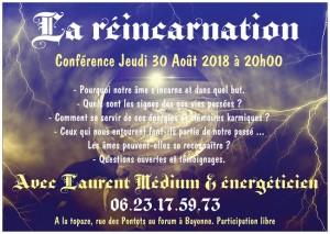conférence réincarnation 30 août